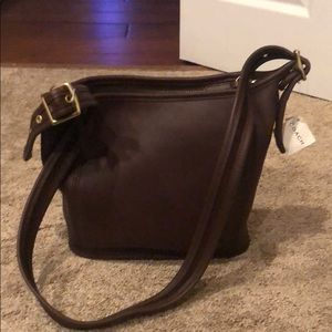 NWT brown leather Coach